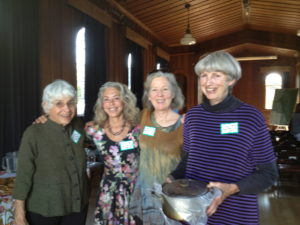 Some of the ConFab planners:  Beth Perry, Harriet Moss, Catherine Porter, Cindy Ohama