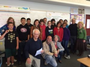 The West Marin Fund grants team and the students from the West Marin School's 8th grade:  our newest community philanthropists